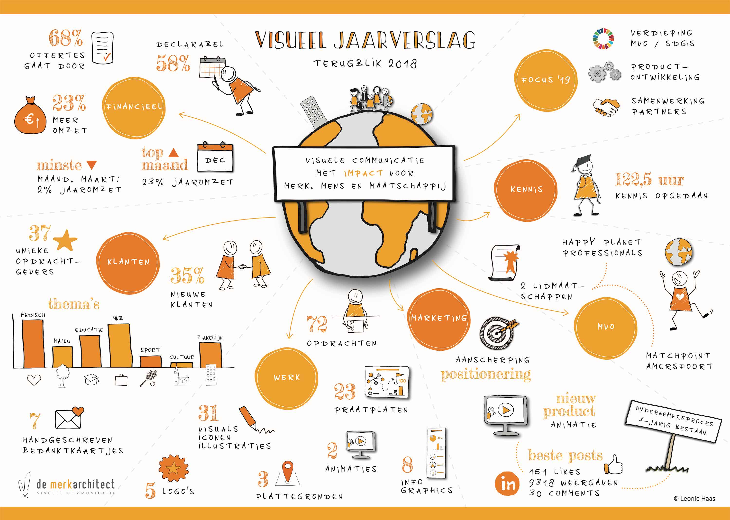 jaarverslag, visueel jaarverslag, strategie, visualisatie, zakelijk tekenen, Leonie Haas, visueel vertaler, illustratie, visual, visualize, strategy