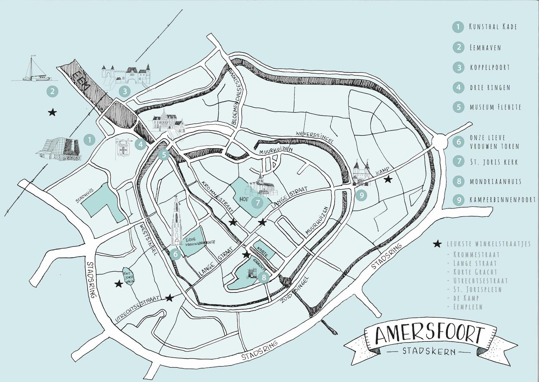 plattegrond Amersfoort