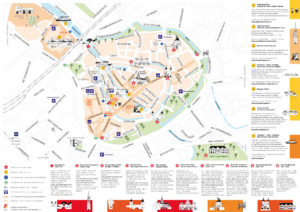 plattegrond, amersfoort, illustratie, illustrated map, Leonie Haas, illustrator, stadsplattegrond, kaart, festival, evenement, beurs, VVV, Gemeente