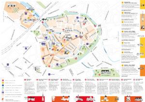 plattegrond, amersfoort, illustratie, illustrated map, Leonie Haas, illustrator, stadsplattegrond, kaart, festival, evenement, beurs, VVV, Gemeente